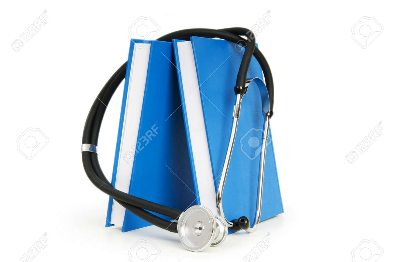 Concept of medical education with book and stethoscope Stock Photo - 7314151