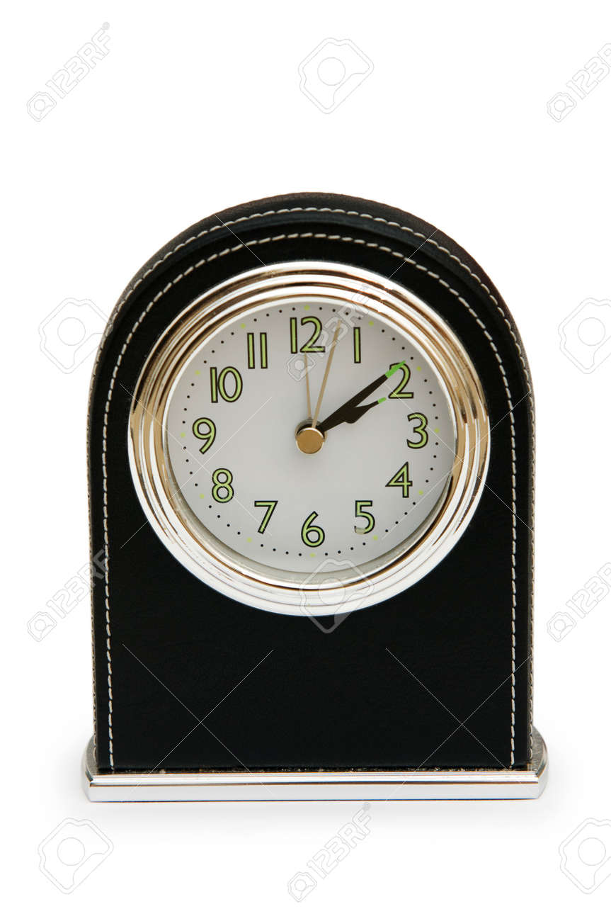 Table clock isolated on the white background Stock Photo - 7349078