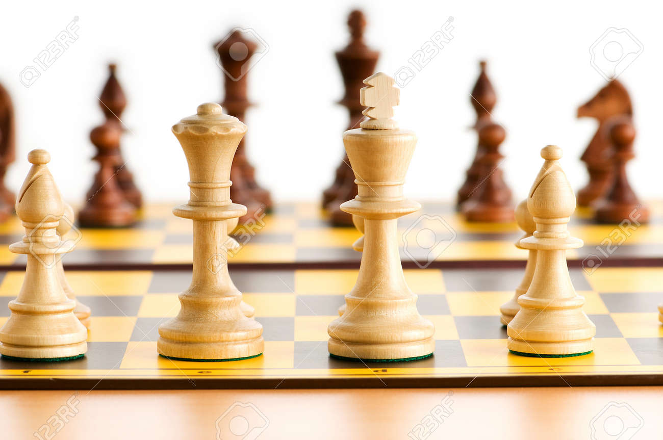 Set of chess figures on the playing board Stock Photo - 7634855