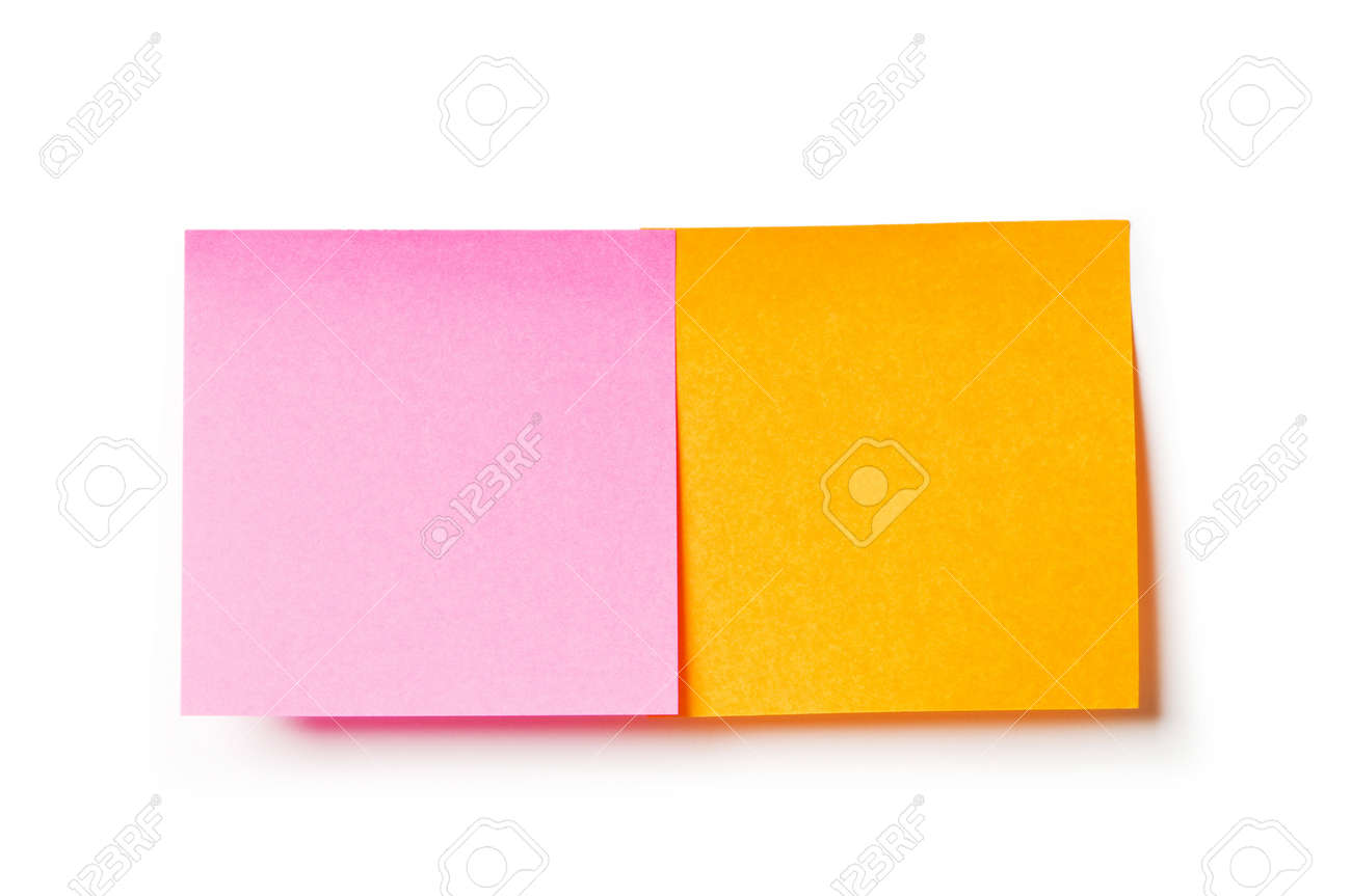 Reminder notes isolated on the white background Stock Photo - 8028060