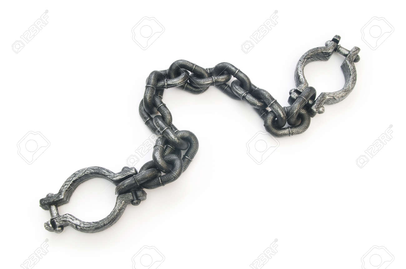 Metal shackles isolated on the white background Stock Photo - 8208931