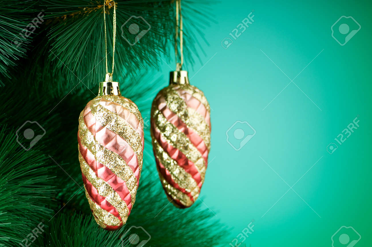 Christmas decoration on the tree - holiday concept Stock Photo - 8233395