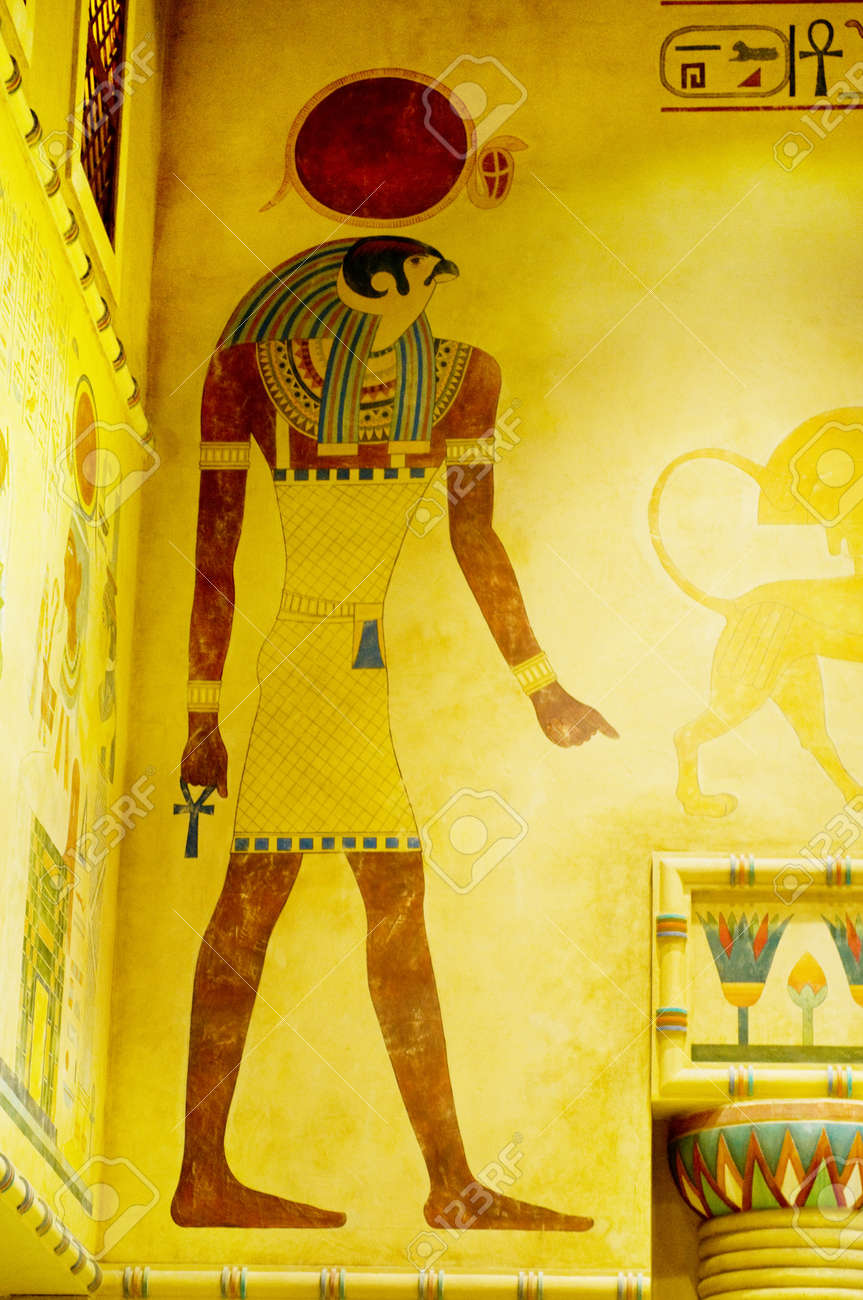 Egyptian concept with paintings on the wall Stock Photo - 8460204