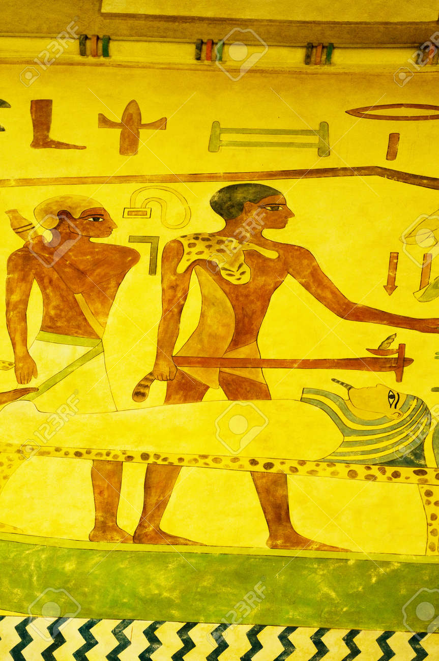 Egyptian concept with paintings on the wall Stock Photo - 8460553