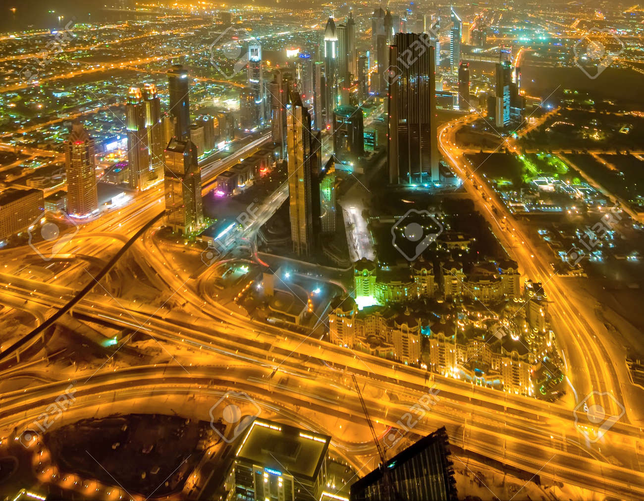 Panorama of down town Dubai city - UAE Stock Photo - 8459994