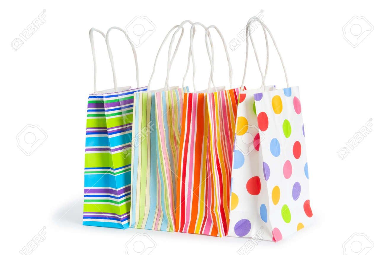 Shopping bags isolated on the white background Stock Photo - 8459827