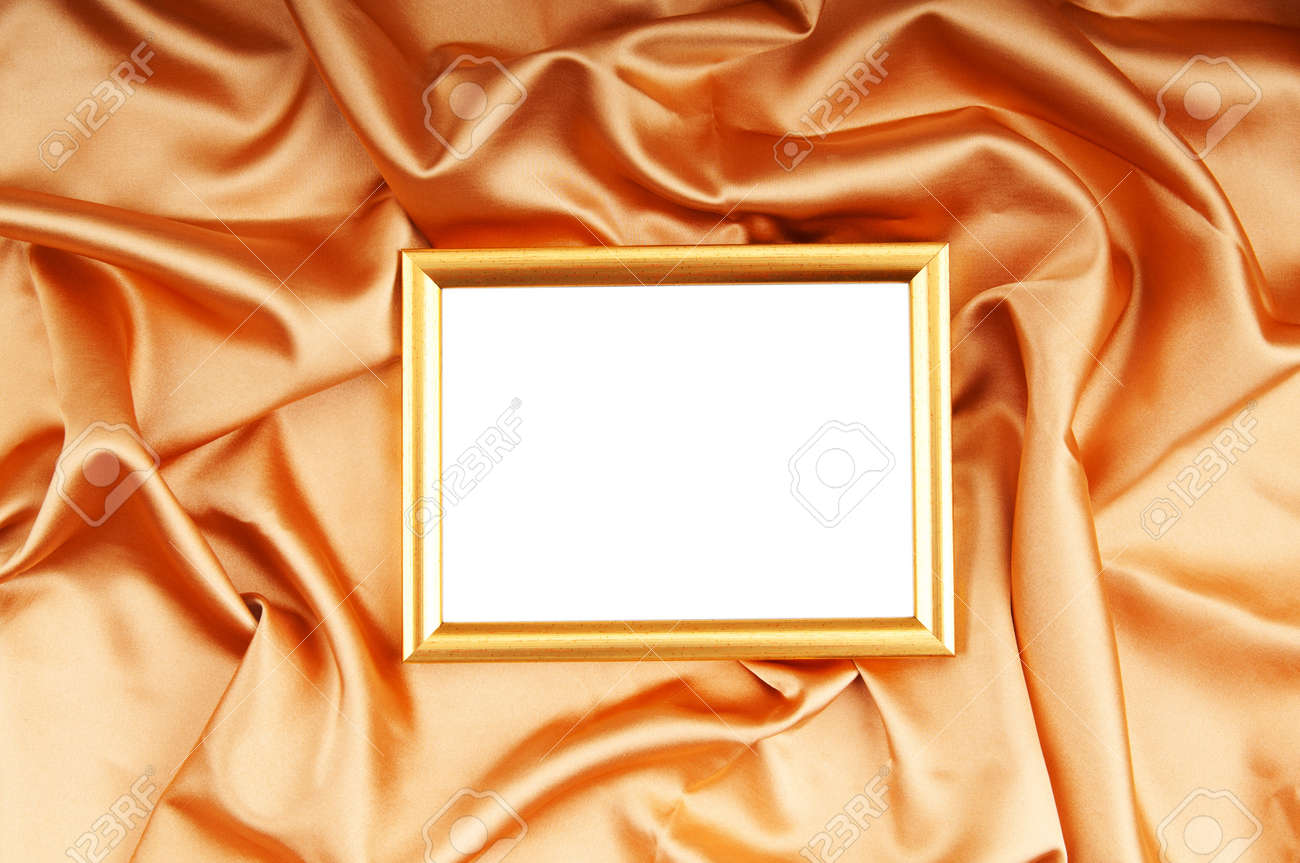 Picture frames on the color satin background Stock Photo - 8614263