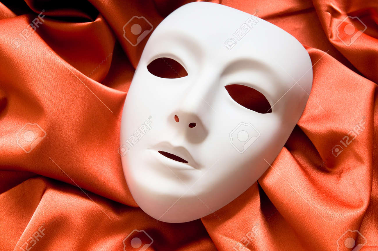 Theatre concept with the white plastic masks Stock Photo - 8615784