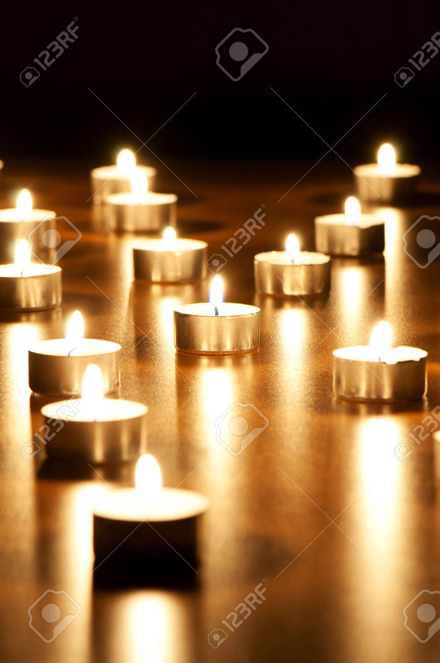 Many burning candles with shallow depth of field Stock Photo - 8657298