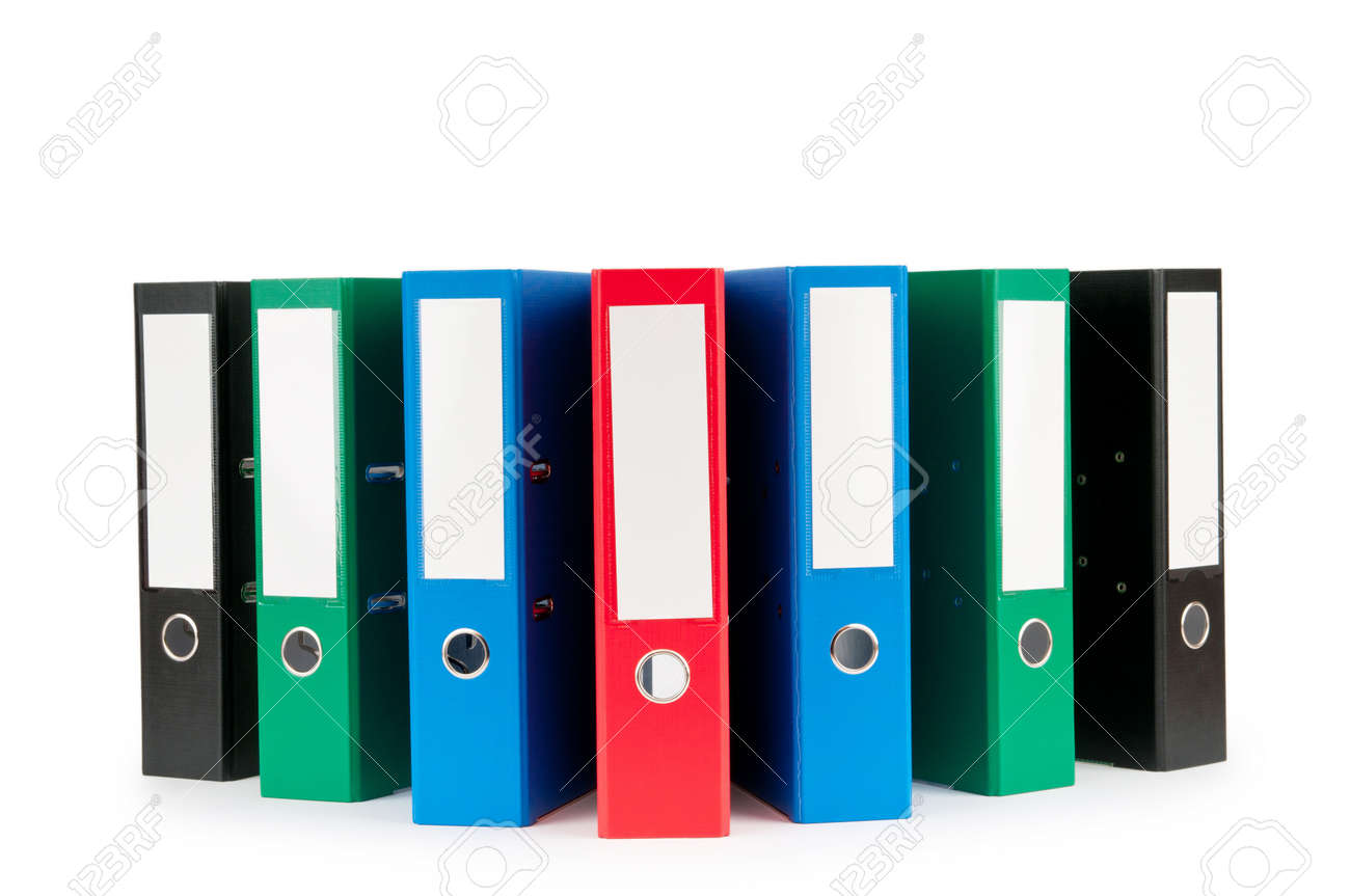 Office Folders Isolated On The White Background Stock Photo ...