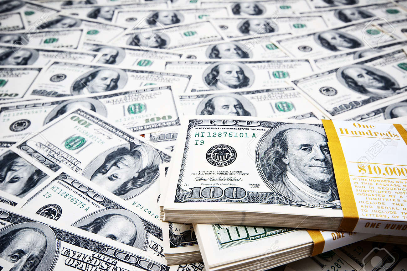 Background made of many dollars Stock Photo - 8943049