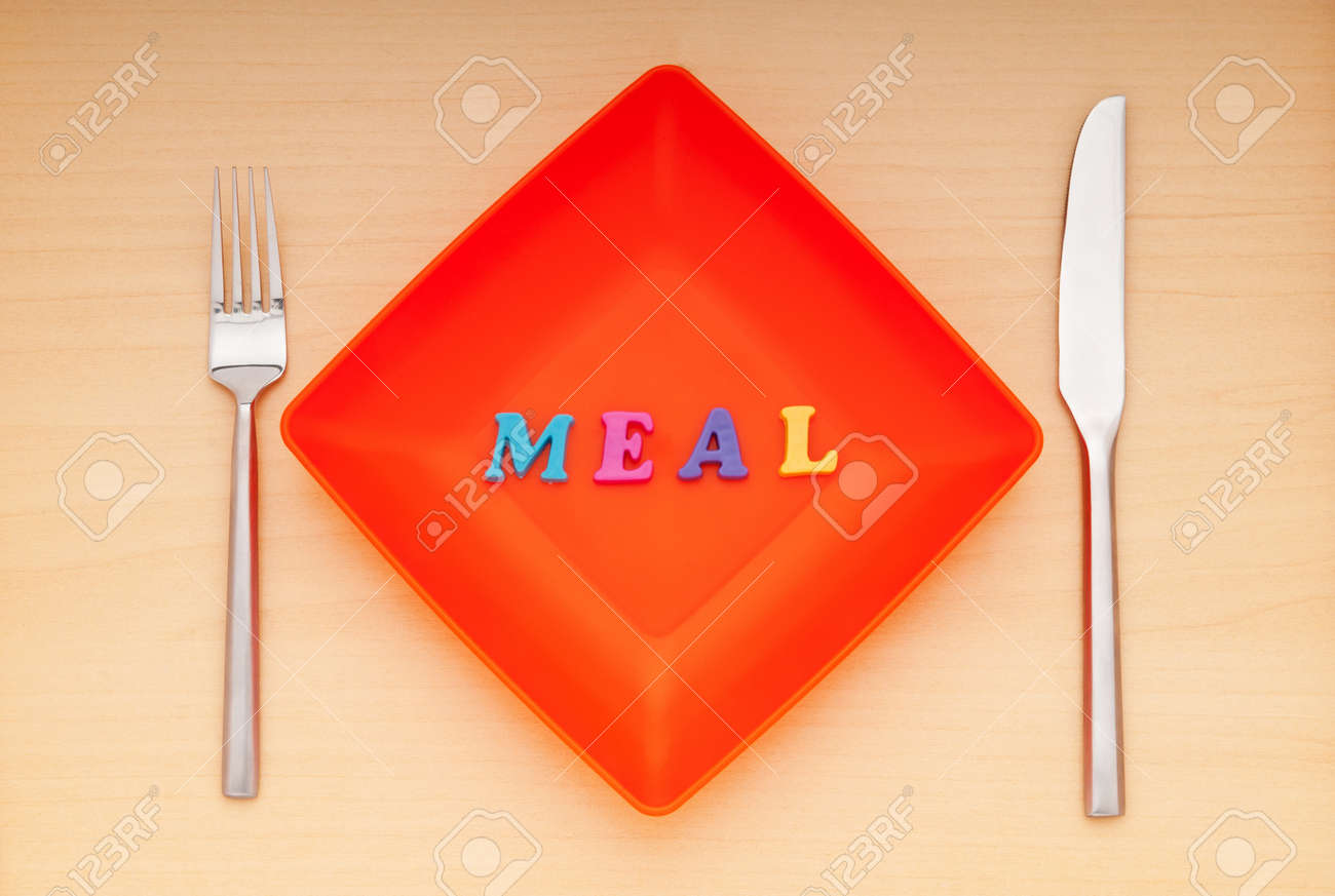 Plate with letters on the white background Stock Photo - 9487802