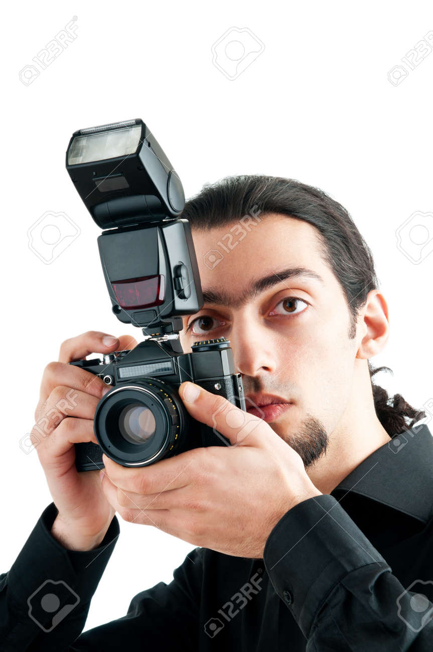 Photographer with the digital camera Stock Photo - 9557247