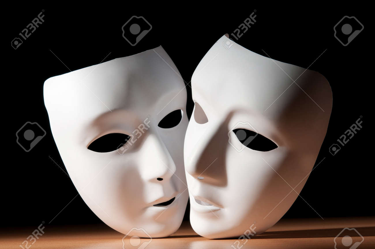 Masks with theatre concept Stock Photo - 9590868