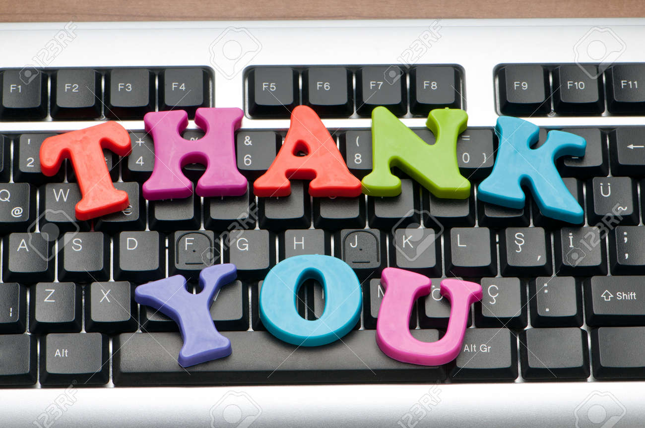 Thank you message on the keyboard - 9822907