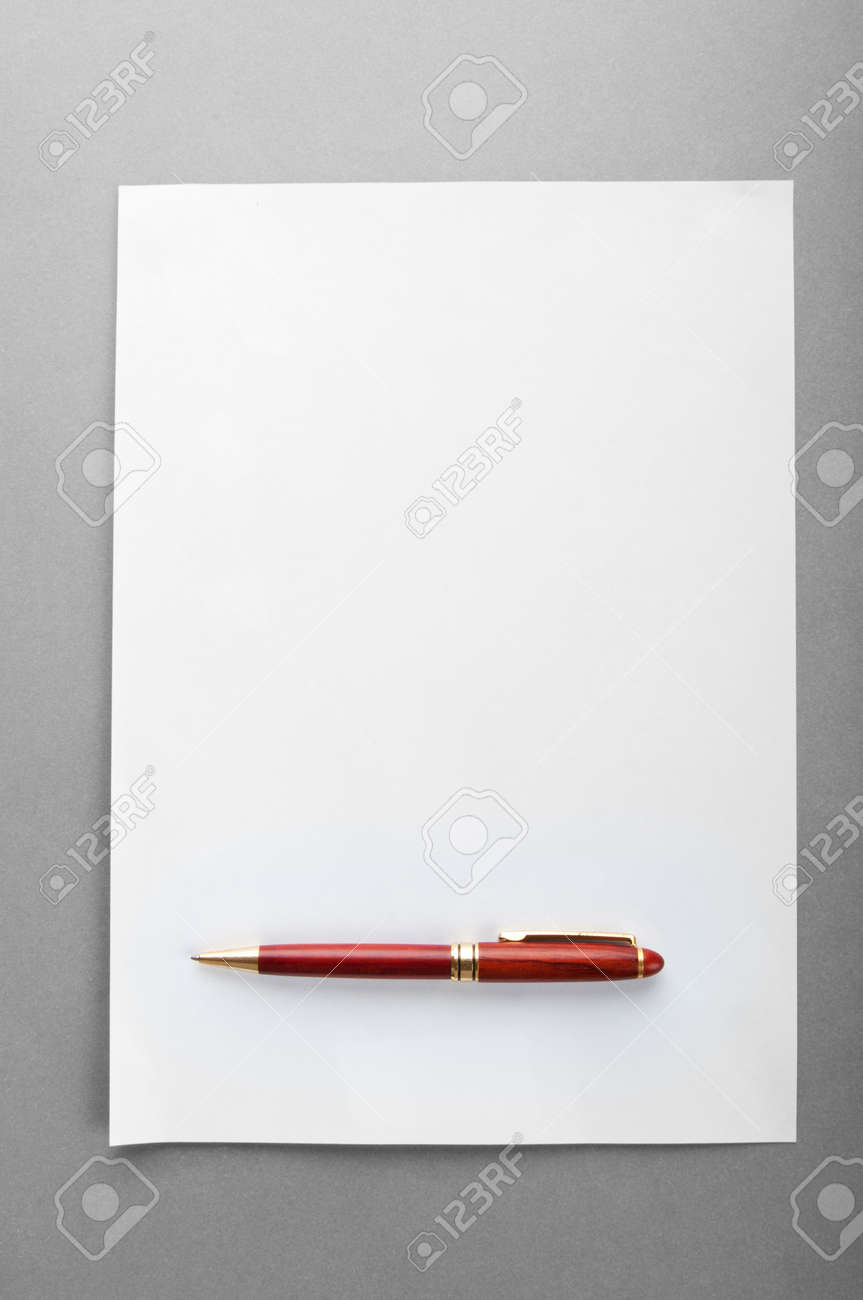 Pen on the sheet of paper Stock Photo - 9918067