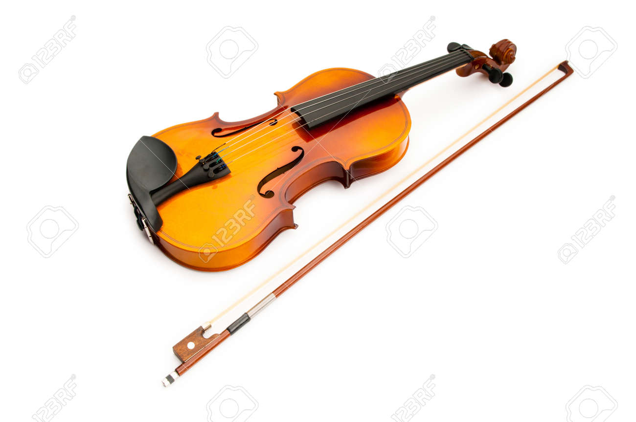 Violin isolated on the white Stock Photo - 10058258