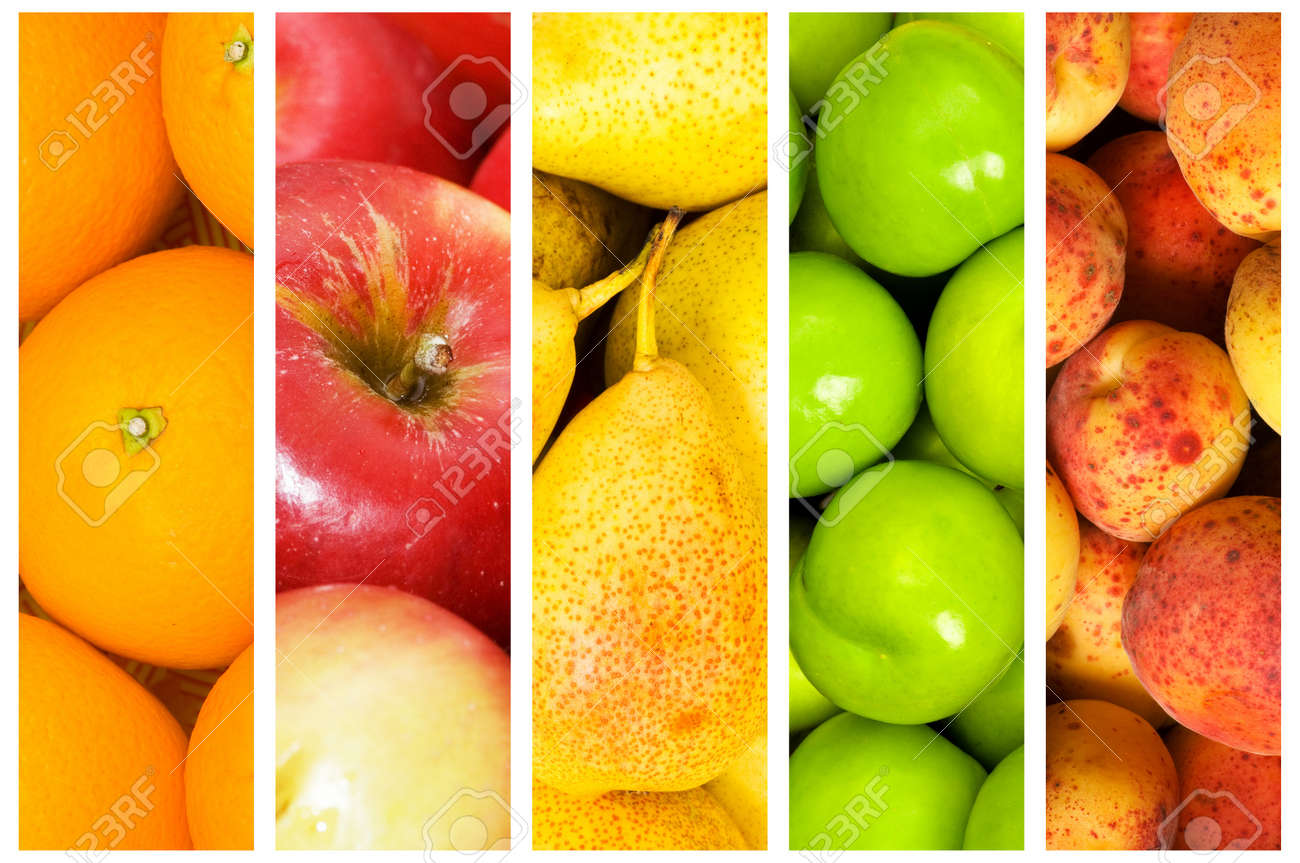 Collage of many fruits and vegetables Stock Photo - 10058100