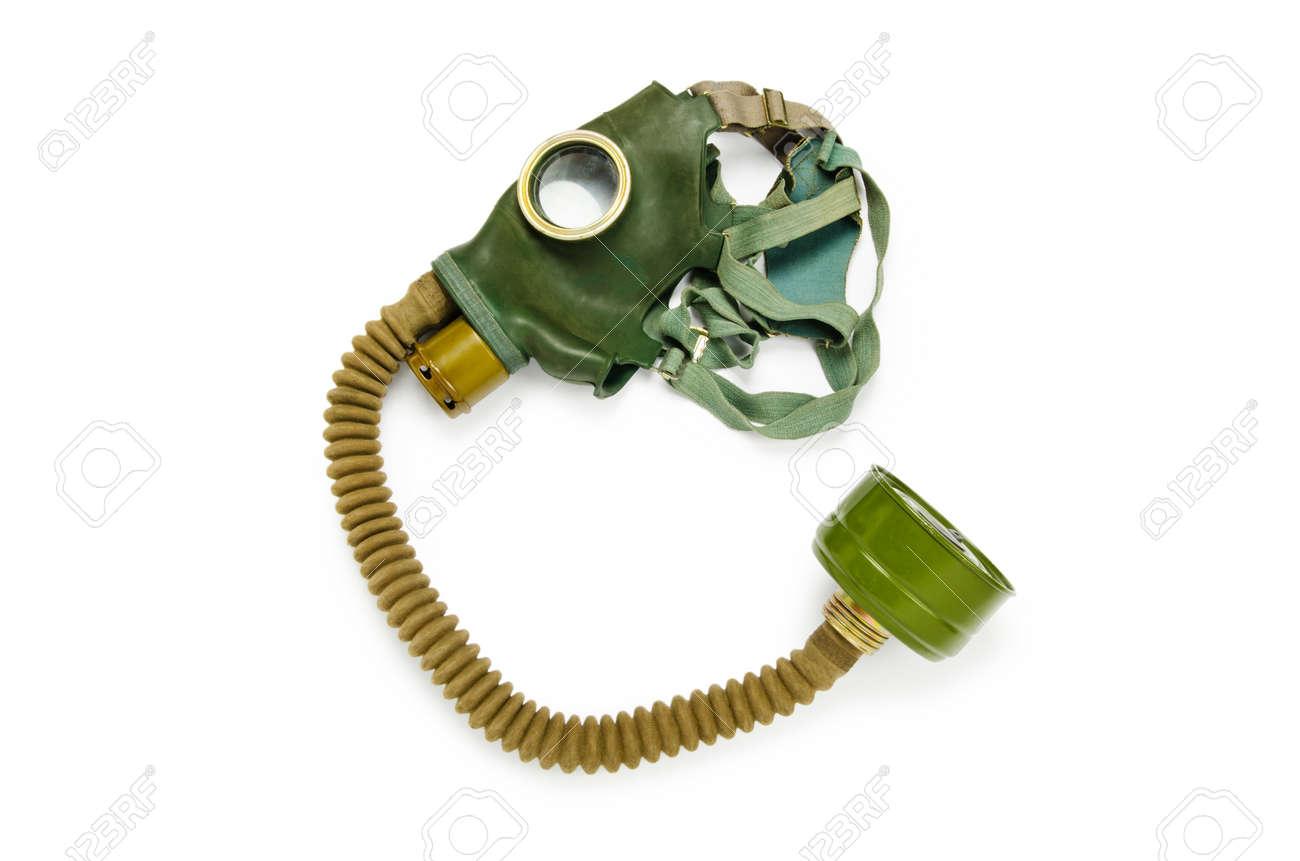 Gas mask isolated on the white background Stock Photo - 10560649