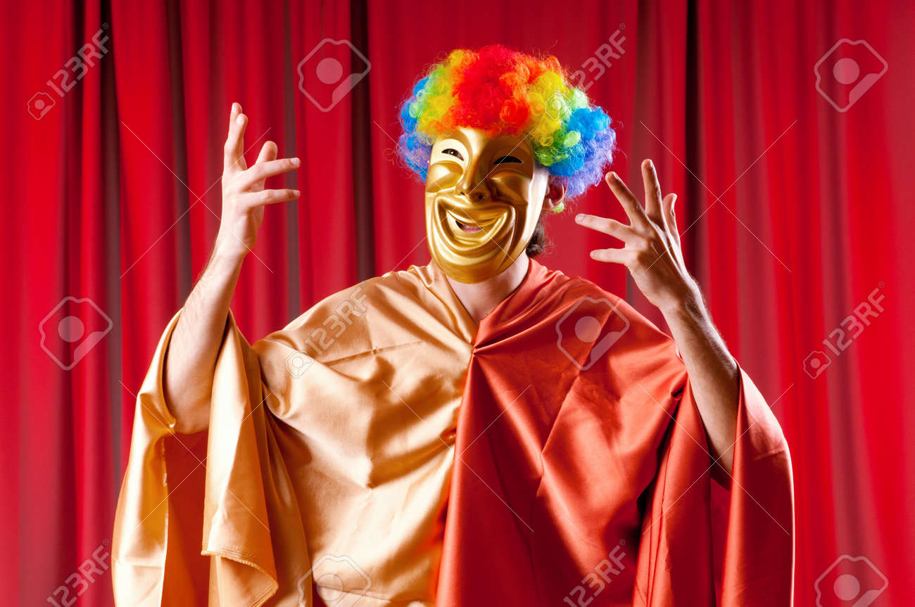 Theater concept with masked actor Stock Photo - 11621862