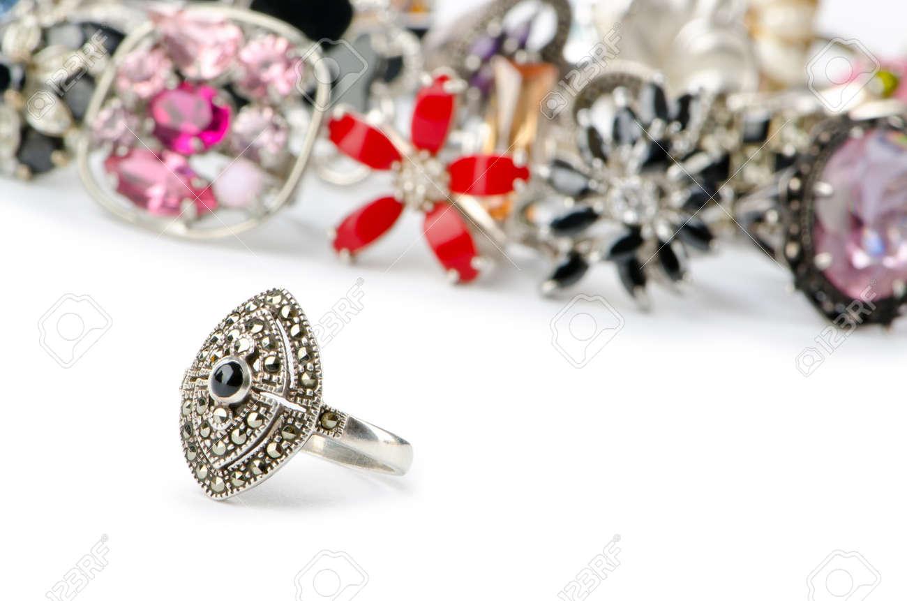 Selection of many precious rings Stock Photo - 10707580