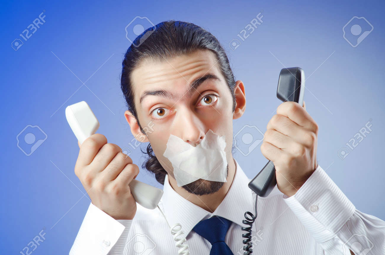 Businessman with his lips sealed Stock Photo - 10970085