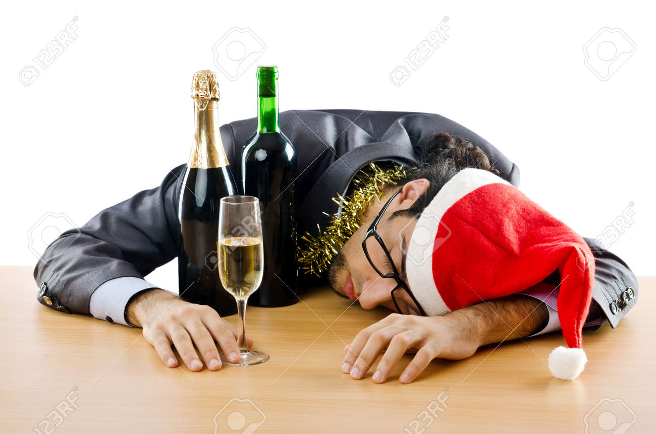 Drunken Businessman After Office Christmas Party Stock Photo ...