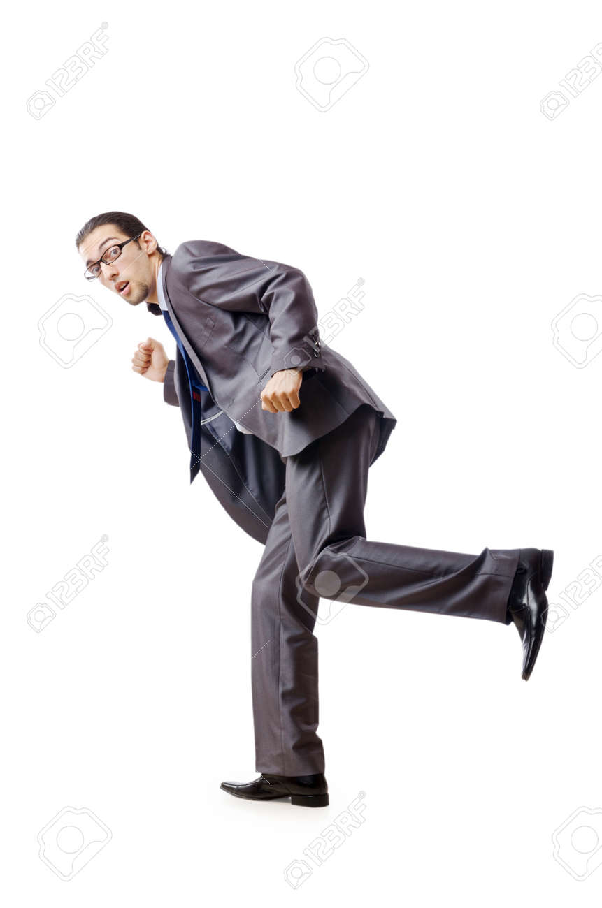 Businessman running for success Stock Photo - 10968351