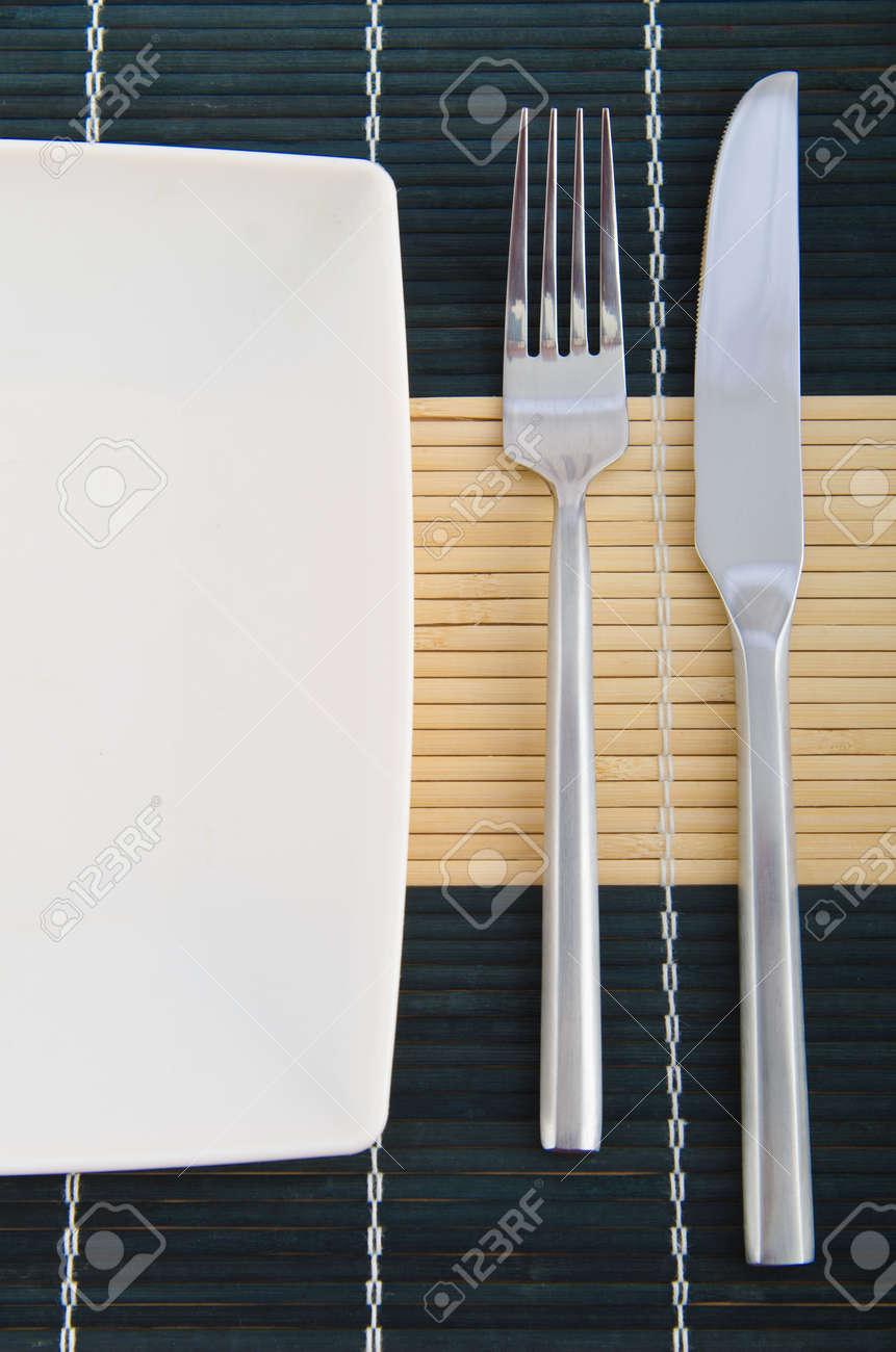 Food utensils on the mat Stock Photo - 11138064