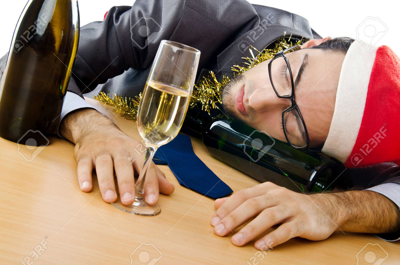 Drunken businessman after office christmas party Stock Photo - 11156856