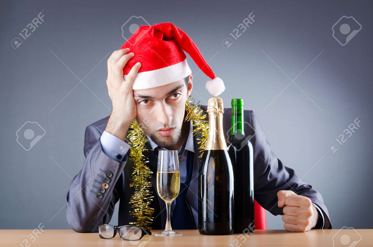 Drunken businessman after office christmas party Stock Photo - 11156853
