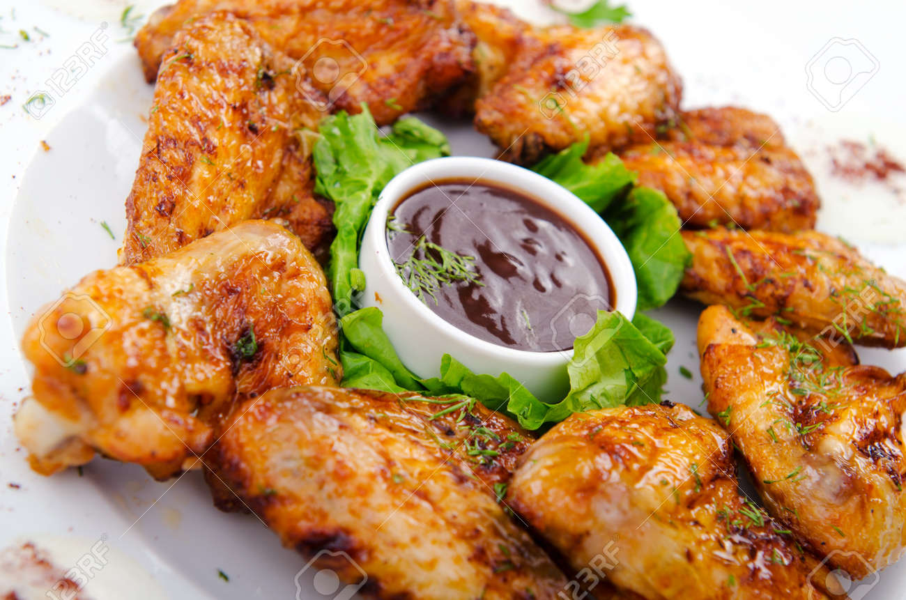 Chicken wings in the plate Stock Photo - 11129706