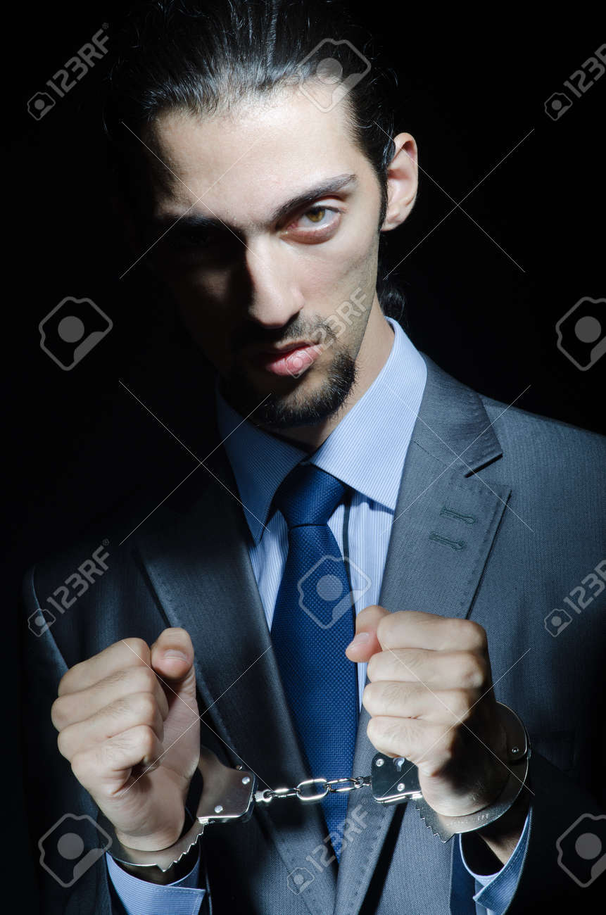 Businessman jailed for his crimes Stock Photo - 11156878
