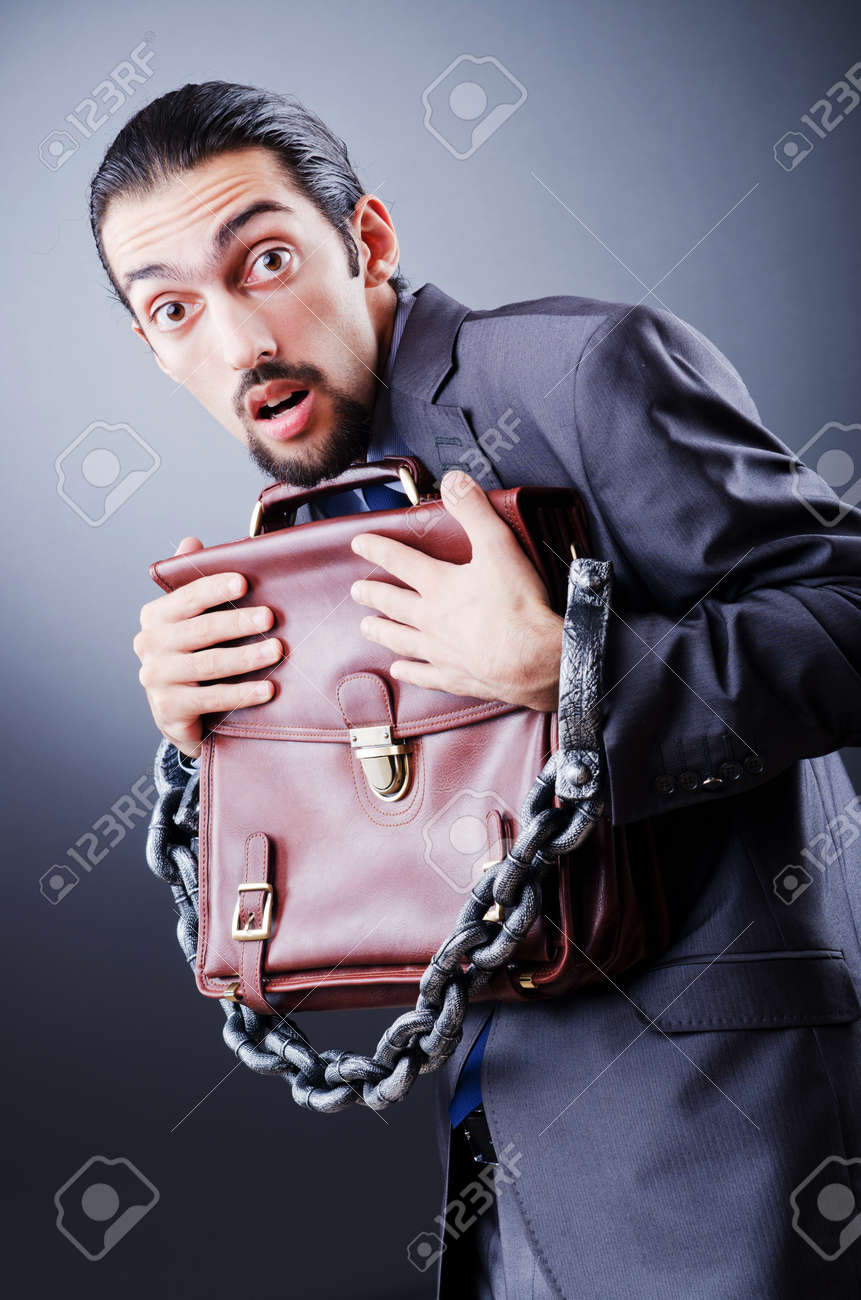 Arrested businessman in studio shooting Stock Photo - 11156896