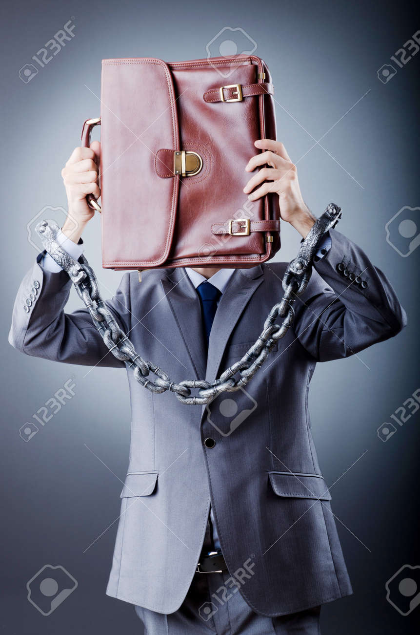 Arrested businessman in studio shooting Stock Photo - 11129573