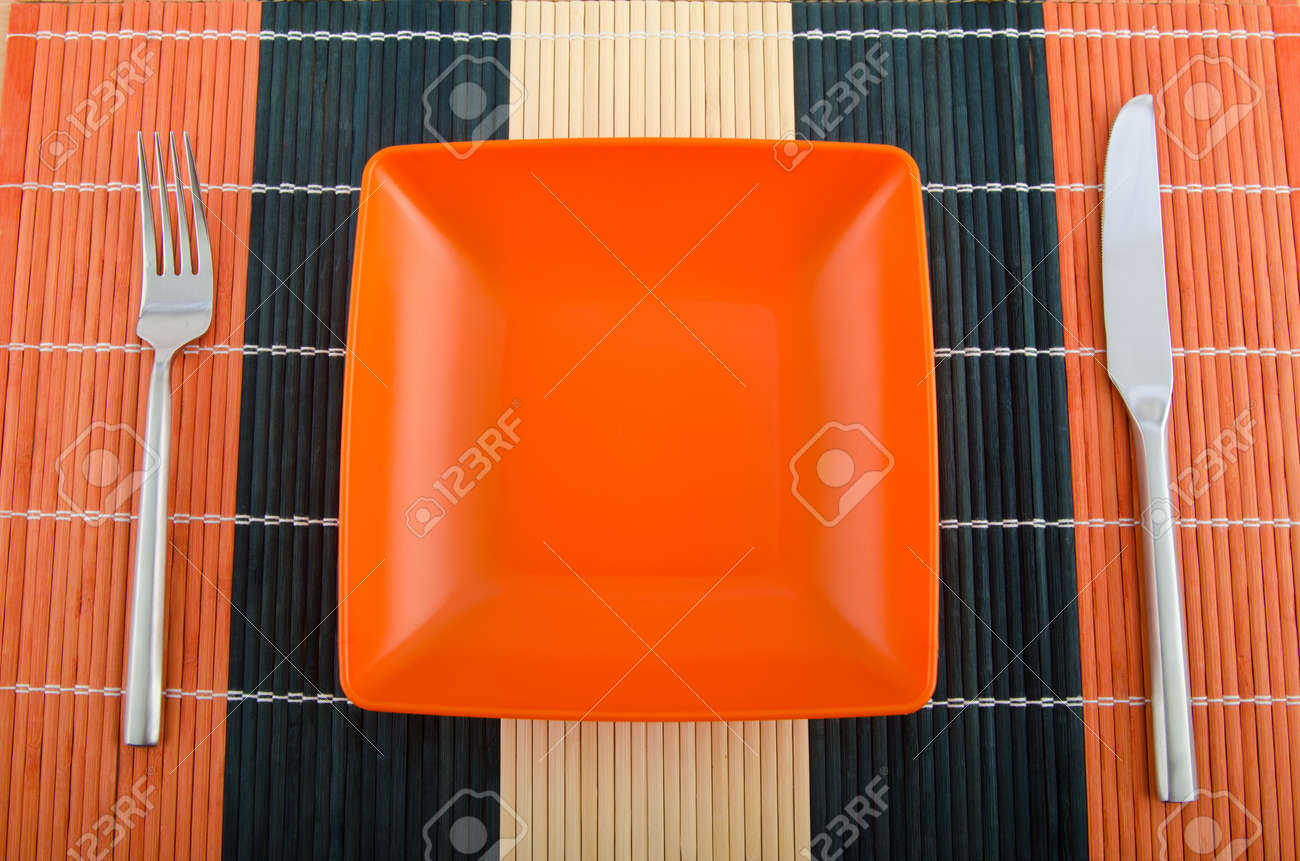 Food utensils on the mat Stock Photo - 11181244