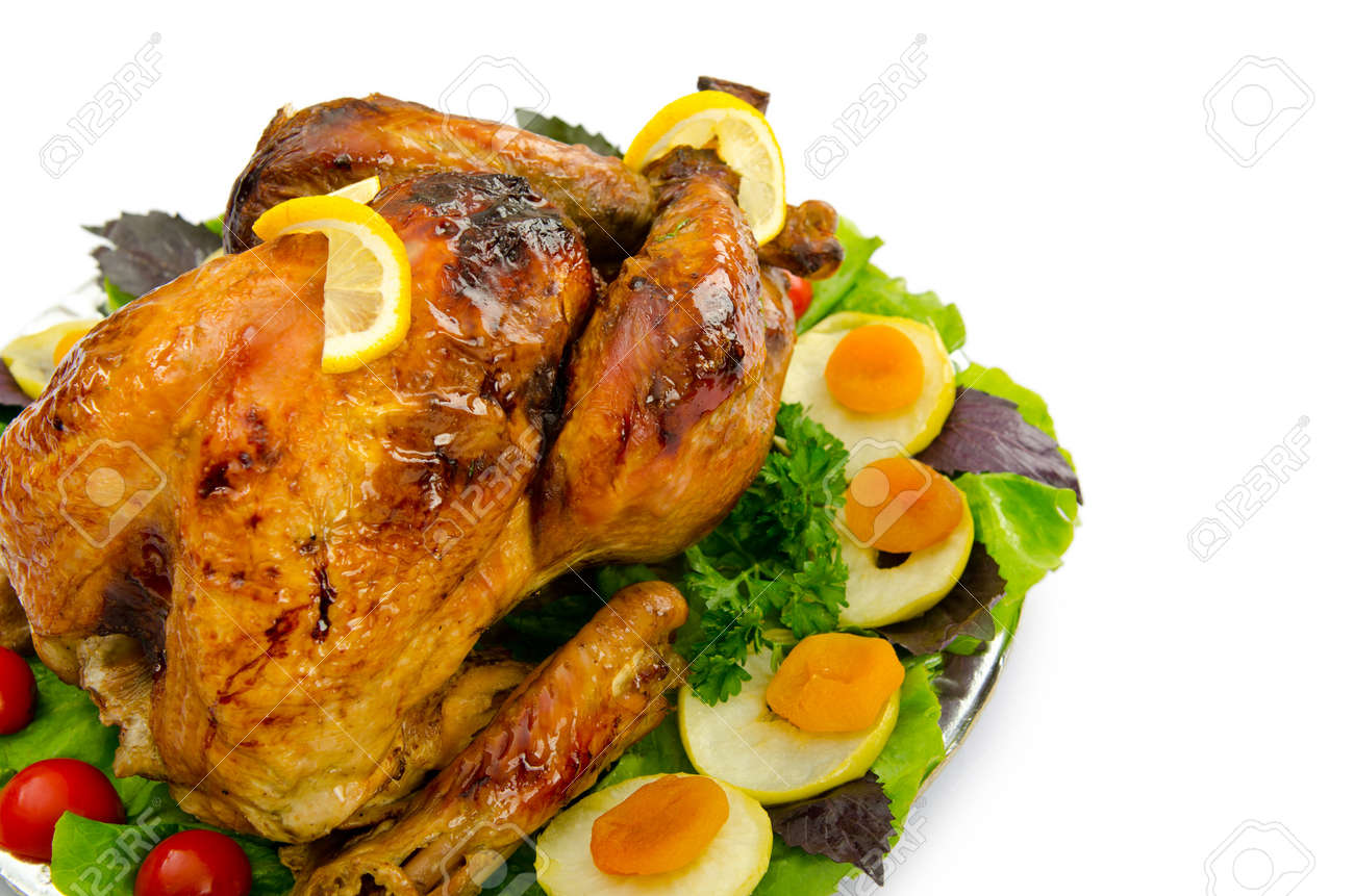 Turkey roasted and served in the plate Stock Photo - 11243182