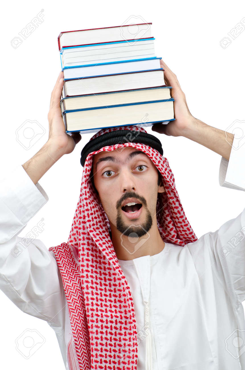 Education concept with young arab Stock Photo - 11362447