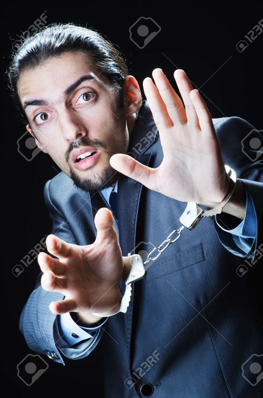 Businessman jailed for his crimes Stock Photo - 11418472