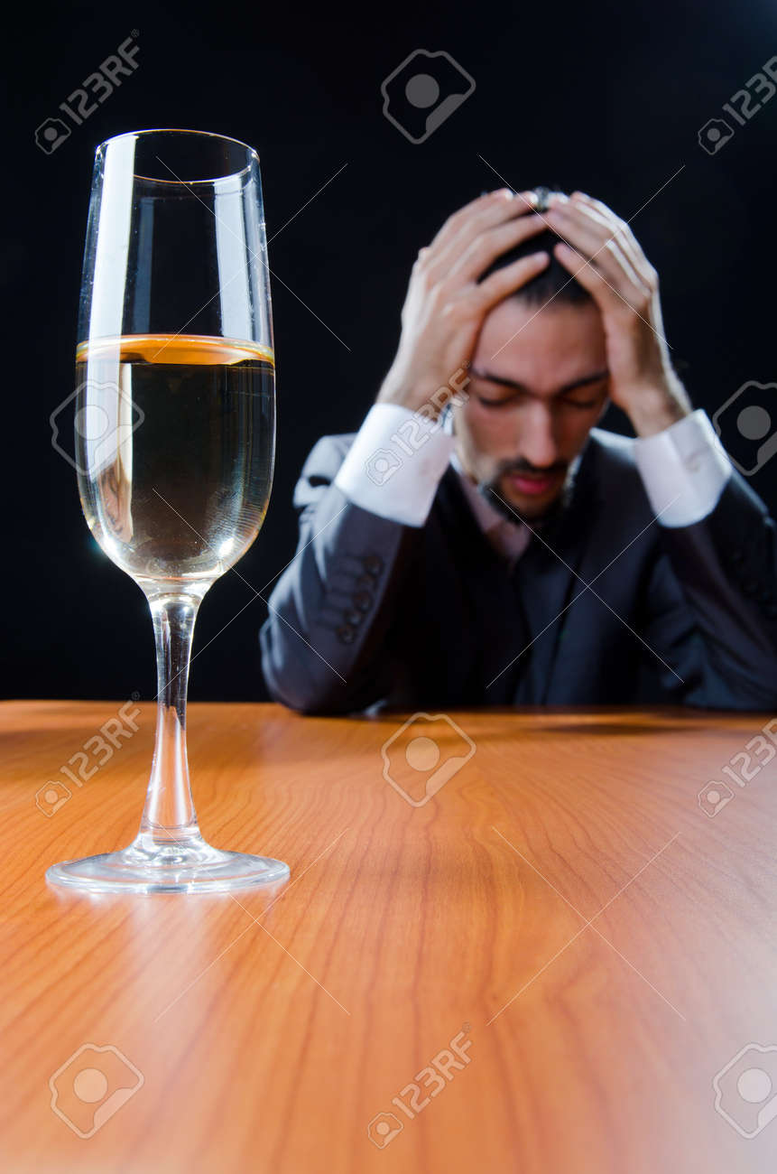 Man suffering from alcohol abuse Stock Photo - 11572393