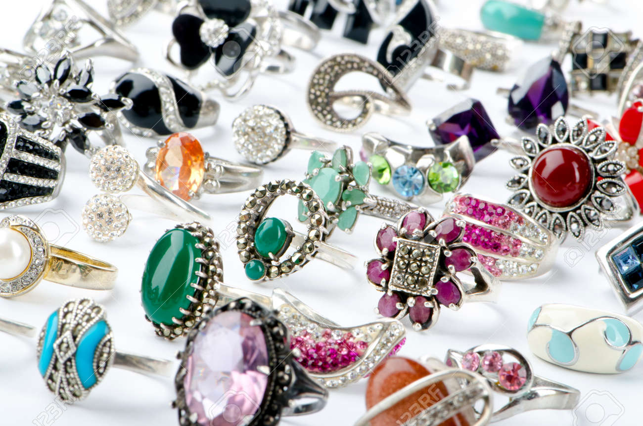 Selection of many precious rings Stock Photo - 11404671