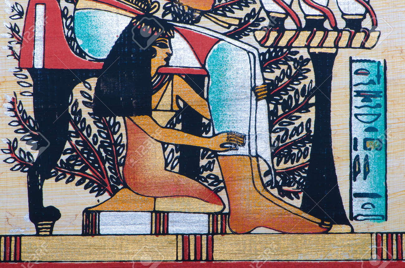 Fragment of egyptian papyrus Stock Photo - 11580681