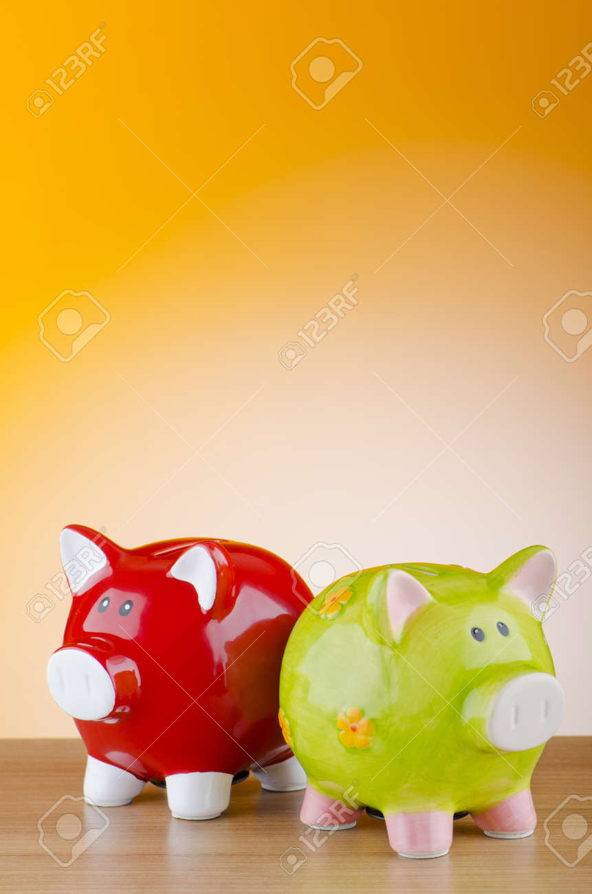 Piggy bank in business concept Stock Photo - 11572216