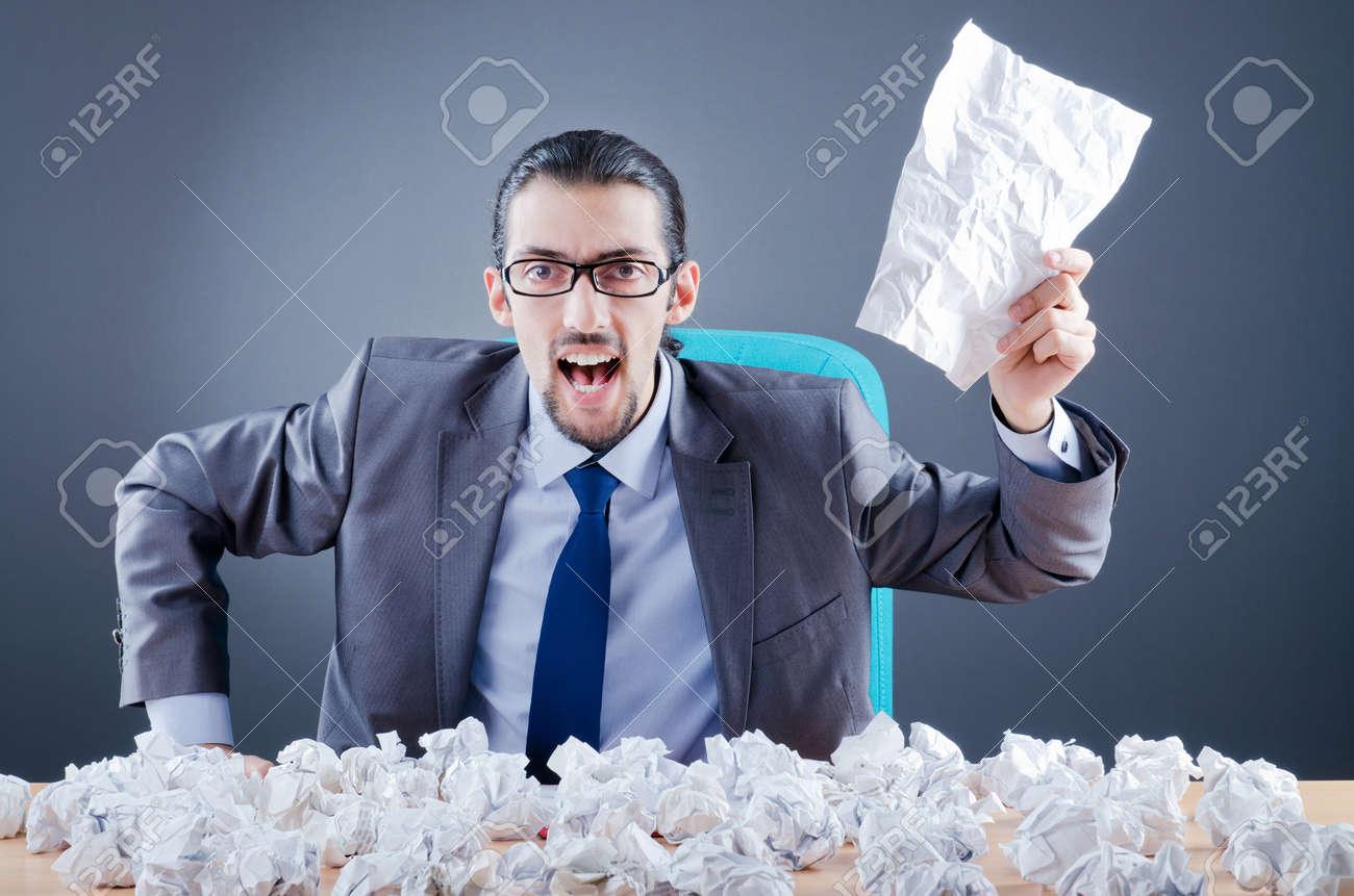 Businessman throwing paper away Stock Photo - 11587872