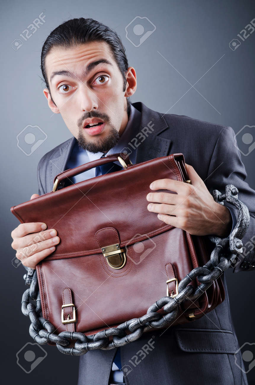 Arrested businessman in studio shooting Stock Photo - 11622513