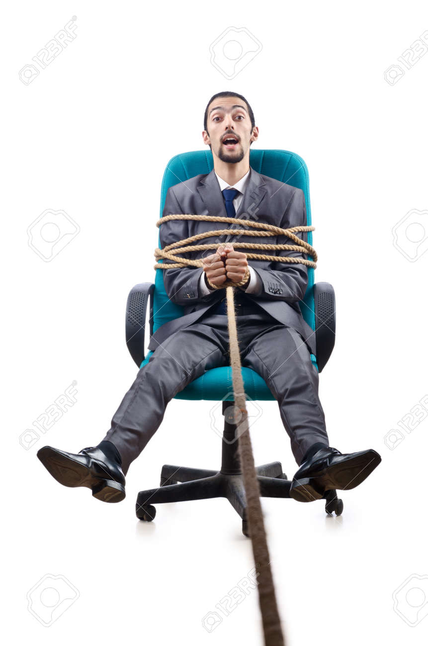 Businessman in the tug of war concept Stock Photo - 12130328