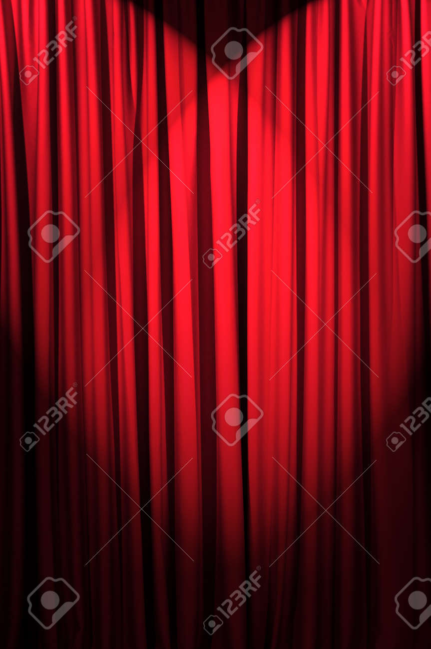 Brightly lit curtains in theatre concept Stock Photo - 12228794
