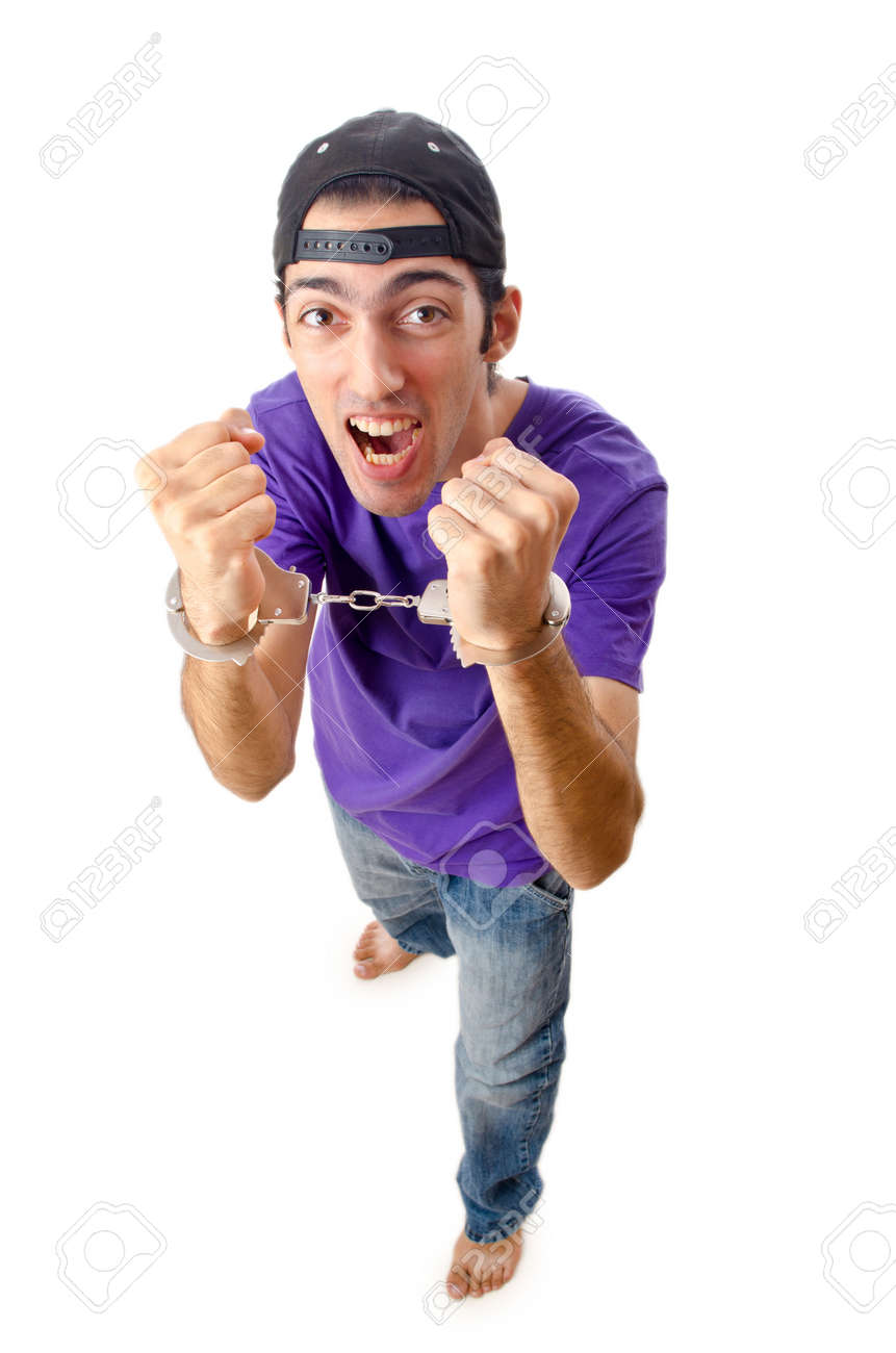 Man arrested for his crimes Stock Photo - 12283764