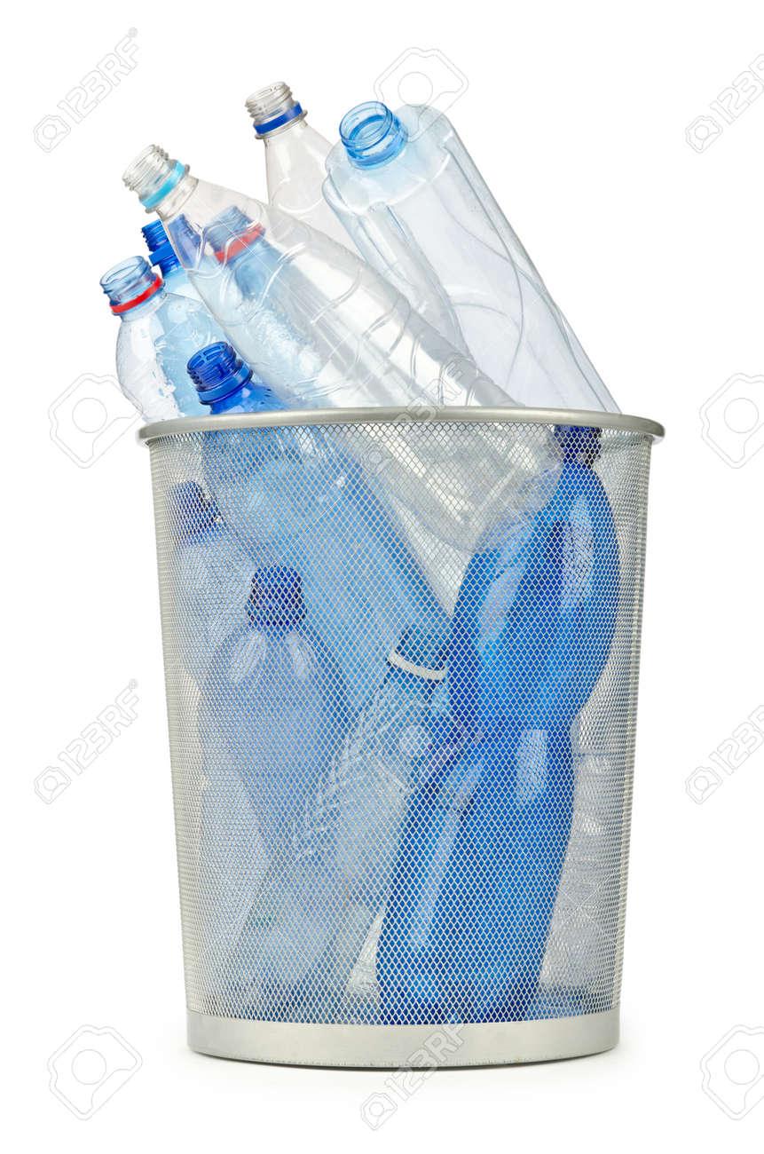 Empty plastic water bottles on white Stock Photo - 12347700