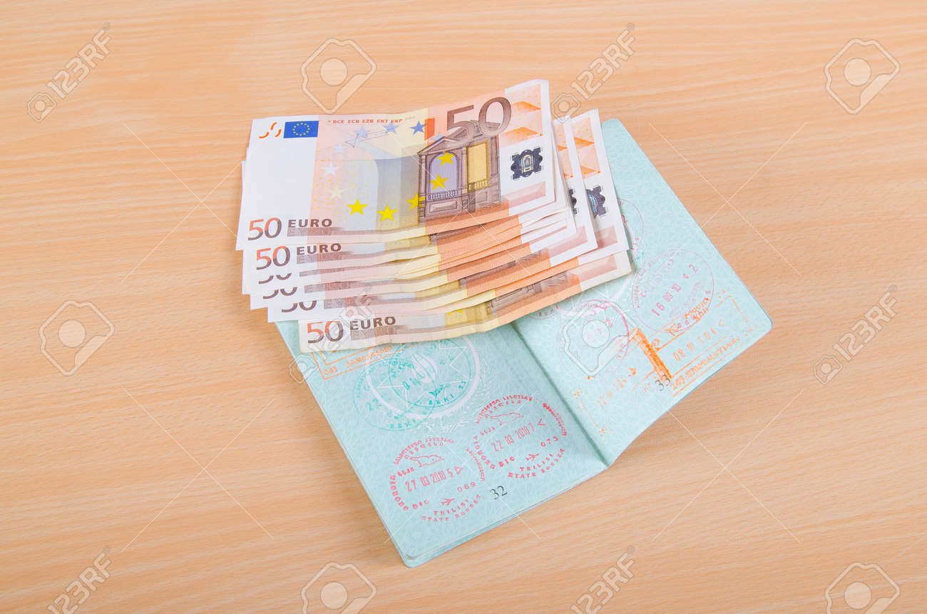 Passport with airport stamps Stock Photo - 12349078